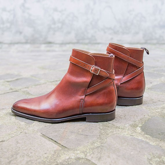 Bottines Jodhpur acajou