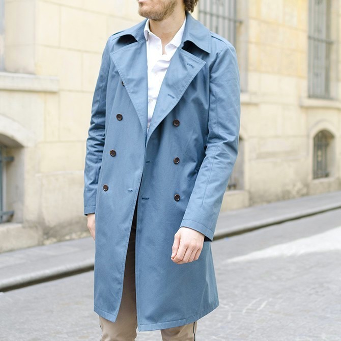 Trench bleu canard Ly Adams