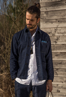 Veste workwear en denim japonais