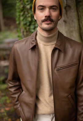 BLOUSON DEER MARRON